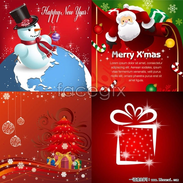 Beautiful Christmas ornaments with a background vector