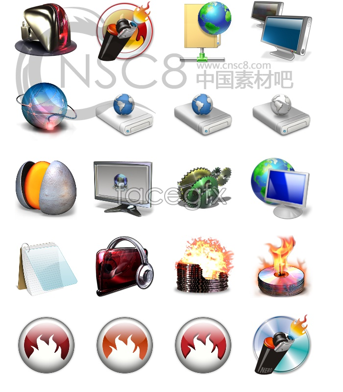 Beautiful computer desktop icon