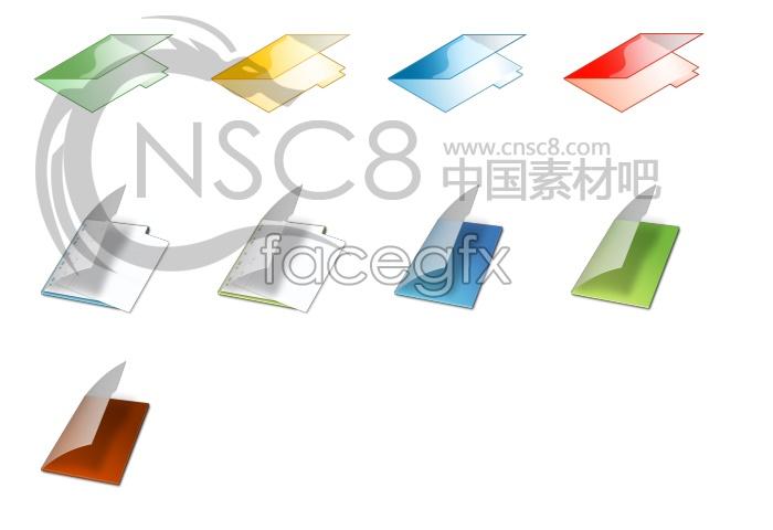 Beautiful crystal folder icon