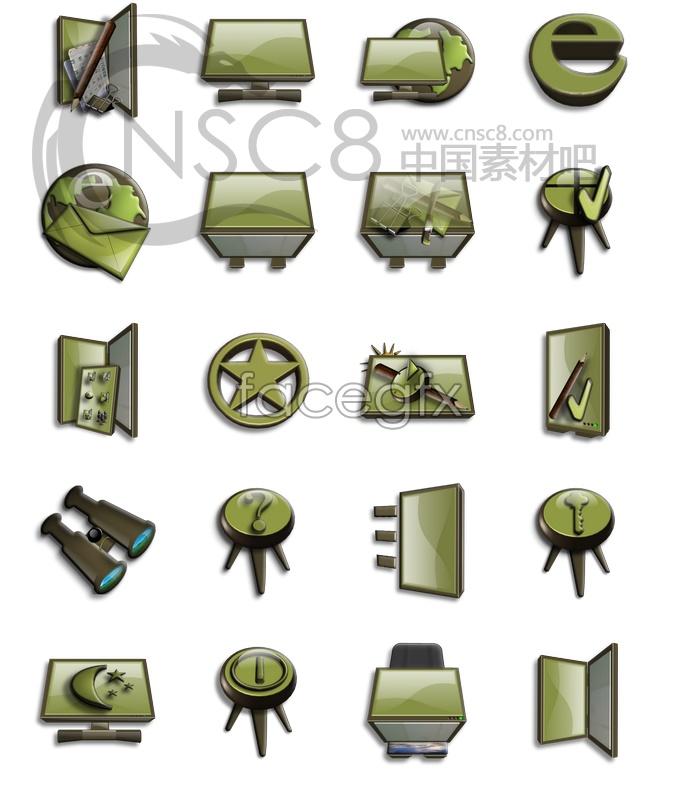 Beautiful dark green file icon