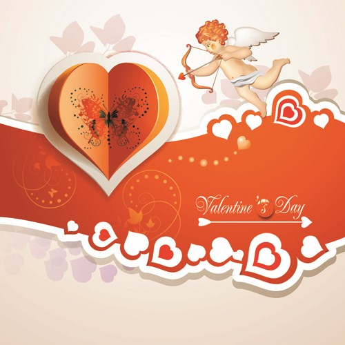 Beautiful flower valentine cards design vector 04 Over millions – Free Download Valentine Card