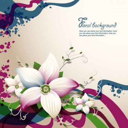 beautiful flowers shading background 04 vector