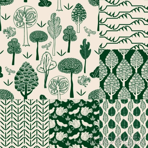 Beautiful green background pattern vector