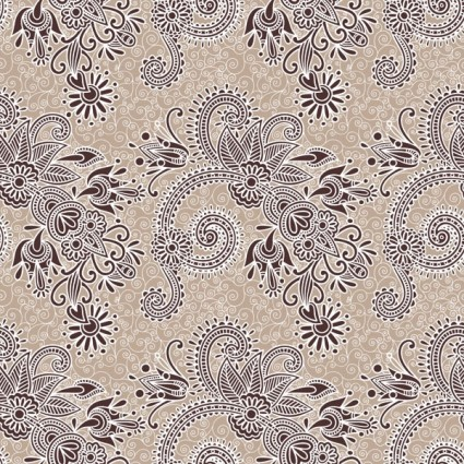 beautiful handpainted pattern vector 3
