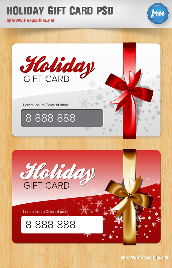 Beautiful holiday gift card psd over millions vectors stock beautiful holiday gift card psd yadclub Images