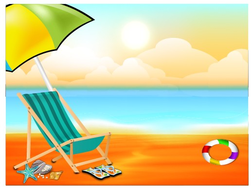 Beautiful Summer Beach Background  Vector  Over Millions