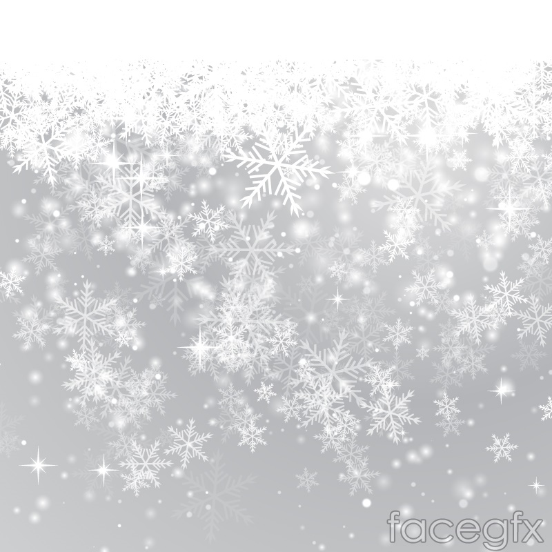 Beautiful Winter Snowflake Background Vector Over