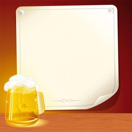 beer and background paper 03 vector