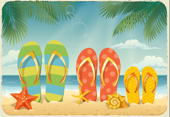 Best Summer Holiday Beach Vector Background 02 Free – Over