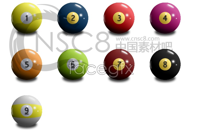 Billiard desktop icons