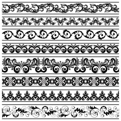 black and white patterns 03 vector