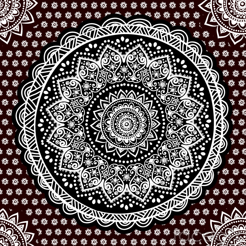 Black and white rounded pattern design vector