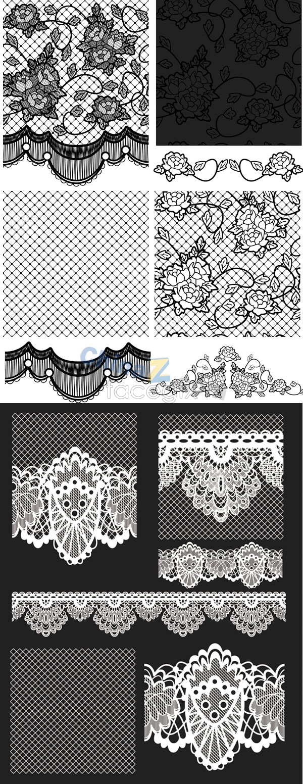 Black grid pattern Vector