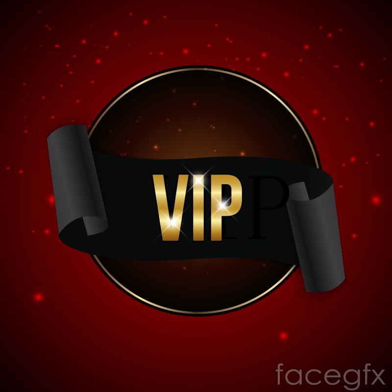 Black vip ribbon banner vector – Over millions vectors
