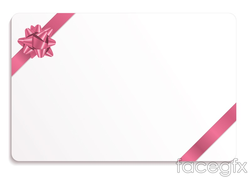 Blank Ribbon edge card vector