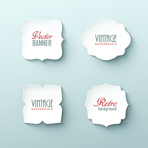 Blank white paper labels vector 02 free Over millions vectors – Free White Paper Template