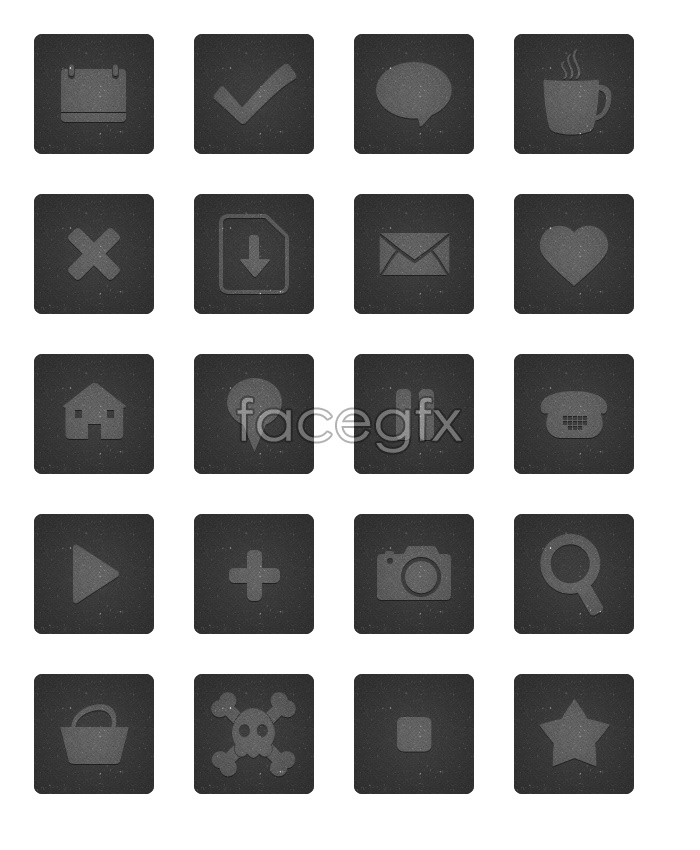 Blog design icons