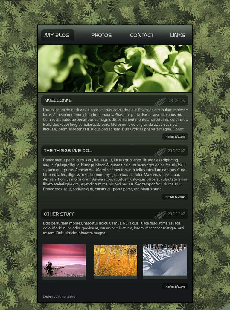 Blog Templete- Nature Theme