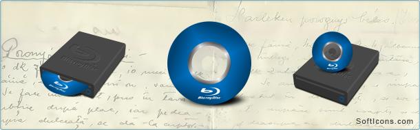 Blu-ray Discs Icons