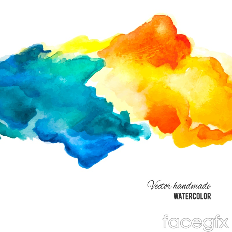 Blue And Orange Ink Background Vector Over Millions Vectors Stock