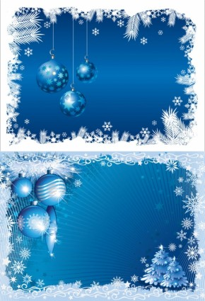 blue christmas background 03 vector