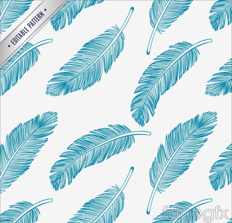 blue feather seamless vector background  u2013 over millions