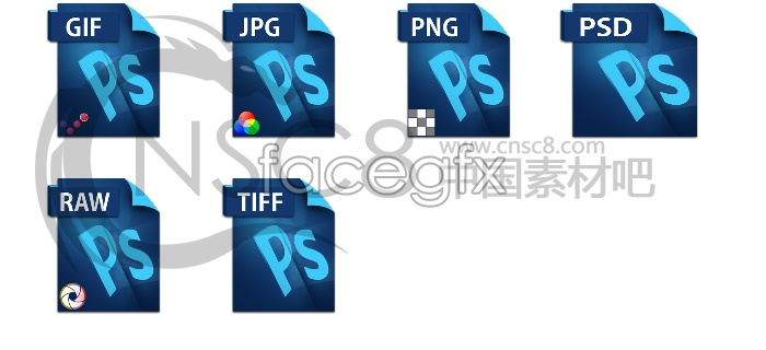 Blue files desktop icons