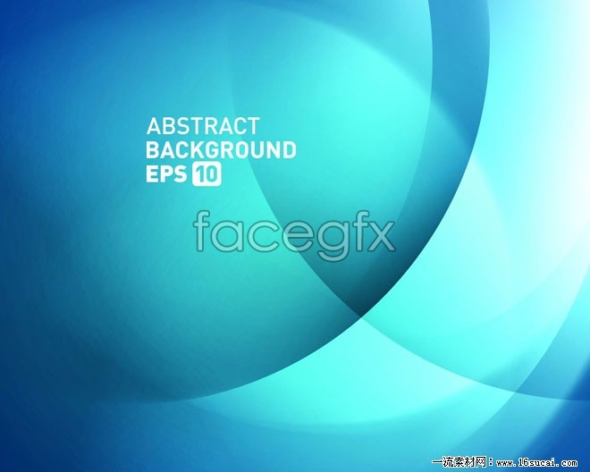 Blue glow-arc background vector