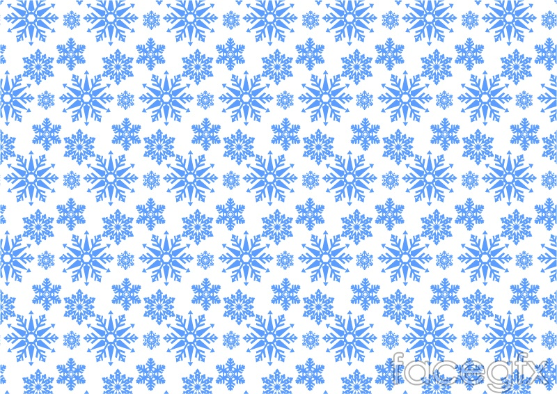 Blue ice crystal snowflake background vector