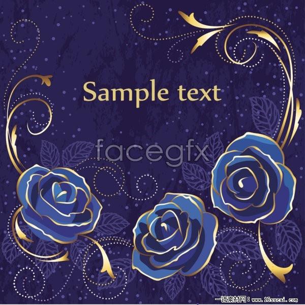 Blue Rose Flower Background Vector Ii Over Millions Vectors Stock