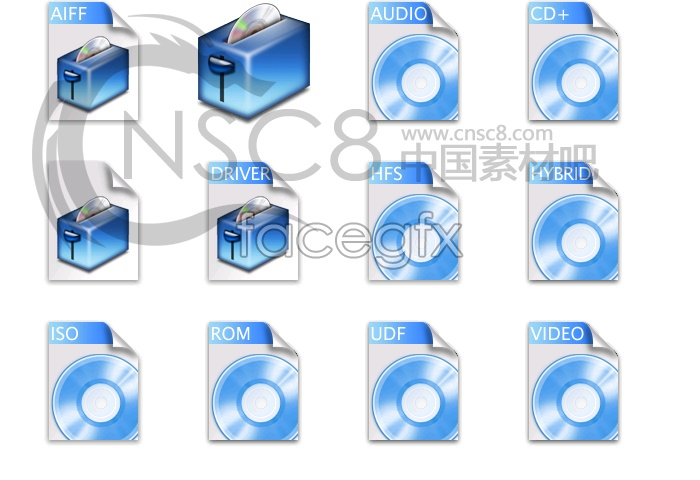 Blue Series drip system icons