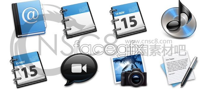 Blue Series icons