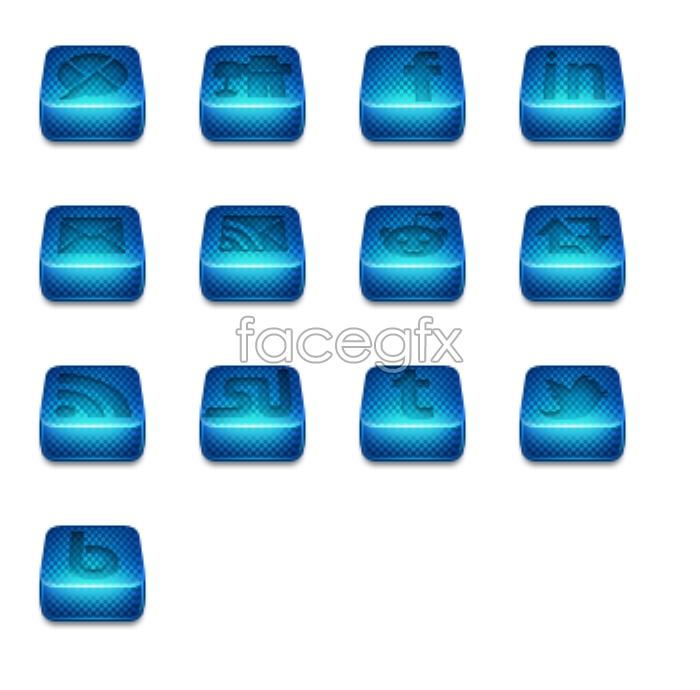 Blue squares LOGO icon