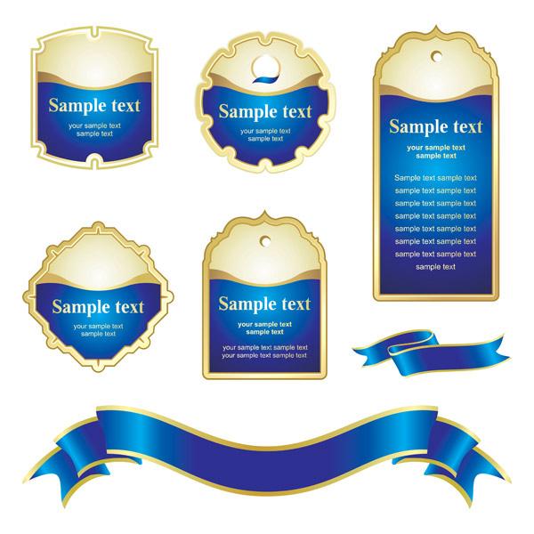 Blue tag ribbons