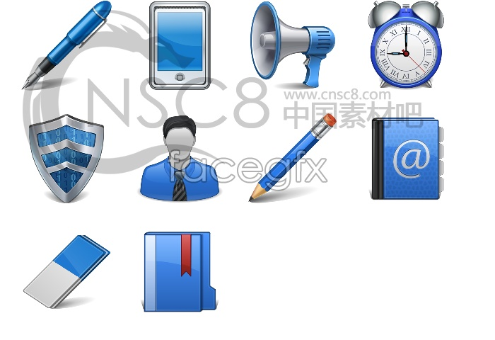 Blue tools desktop icons