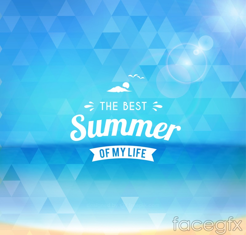 blue triangle mosaic poster summer vector over millions vectors