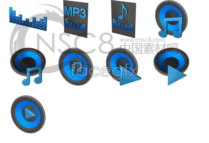 Blues blue MP3 icon