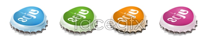 Bottle cover desktop icons
