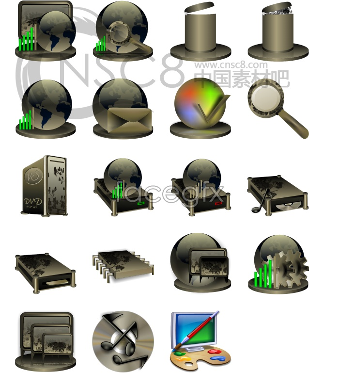 Boutique system icons