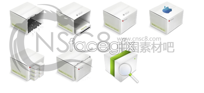 Box design desktop icons