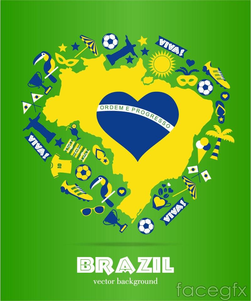 brazil world cup background design vector – over millions vectors, Presentation templates