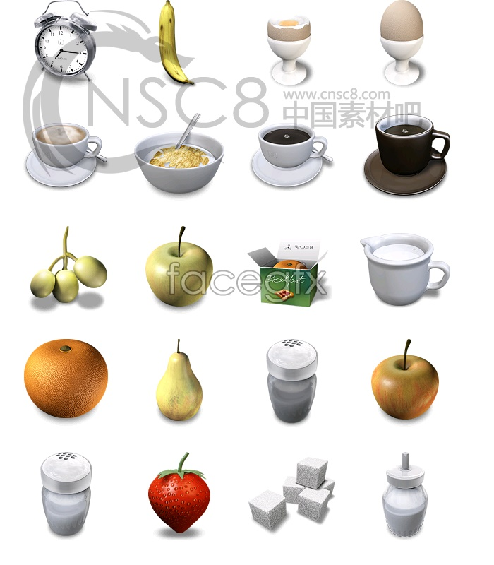 Breakfast clock icon