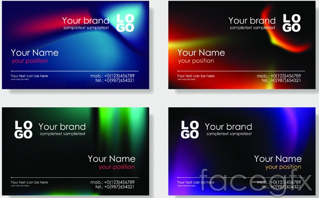 Bright Business Card Templates Design Vector Over Millions - Business card templates designs