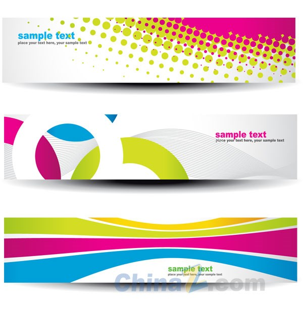 Bright creative banners vector templates – Over millions vectors ...