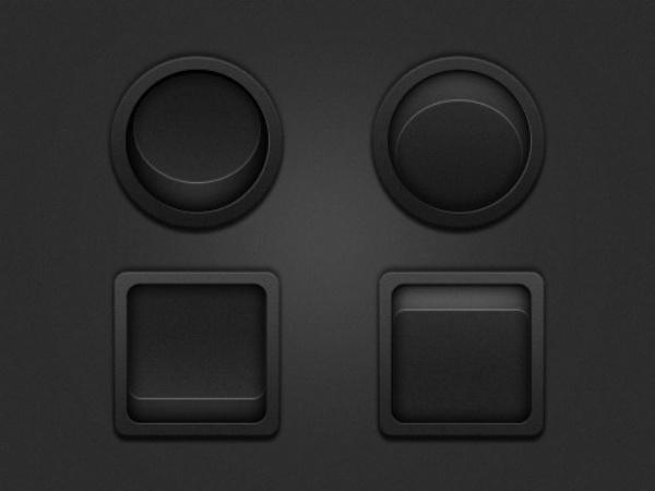 Brown button PSD