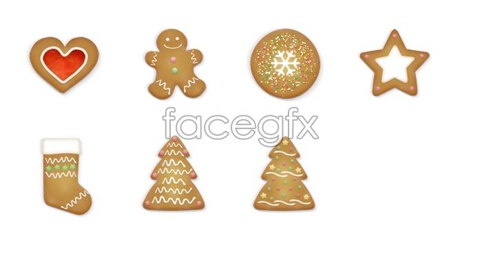 Brown Christmas icons