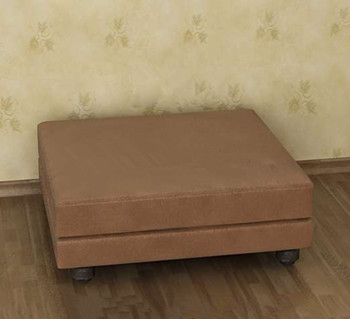 Brown square and single sofa 3D Model