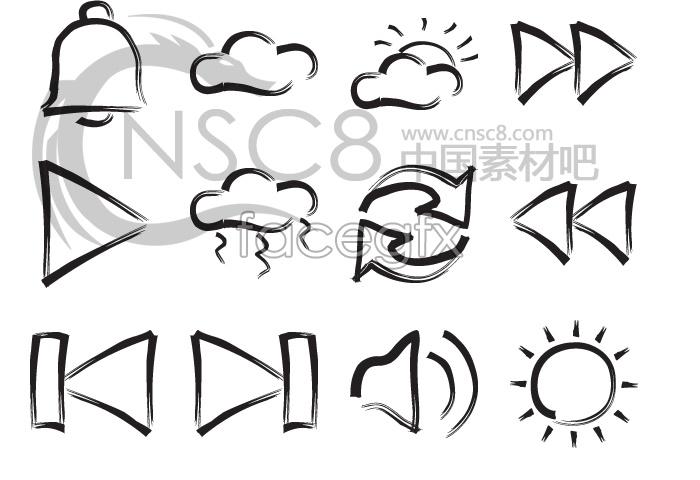 Brush marks desktop icons