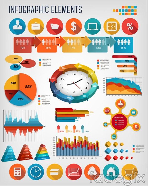 Business information diagram elements vector over millions business information diagram elements vector ccuart Gallery