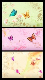 Butterfly flower background PSD